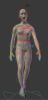 Rigging and animating the character with Mocap data.